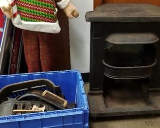 Franklin castiron wood stove and parts - never used