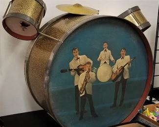 1950 Chein toy drum set - some condition issues