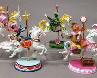 hard to find Merry-Muppet-Go-Round, full set. Miss Piggy has her certificate. (small chip on Kermits horses tail)