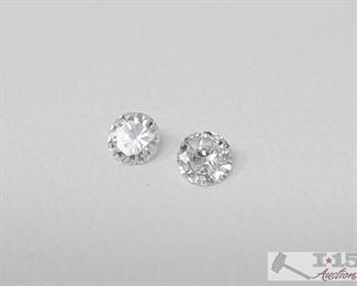 107: Two 1/16ct Loose Diamonds Each one is approx 1/16ct  J24 4 of 5