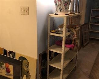 Basement: $5 per item sale. SHELVES ARE NOT FOR SALE!