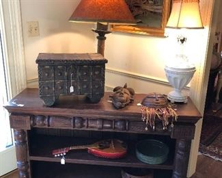 Antique furniture, lamps, decor
