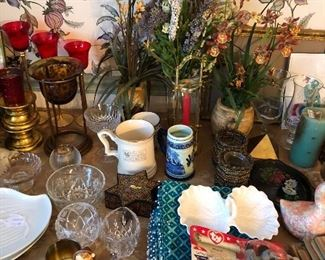 Items on table are $1 each (firm, not 1/2 off!)