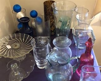 Vases and glassware