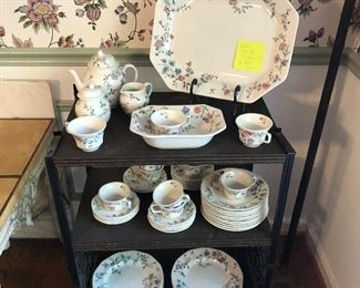 Laura Ashley dish set, Chinese silk pattern