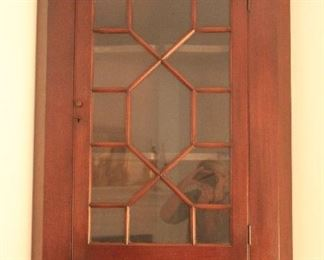 Chippendale style hanging cabinet