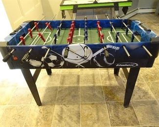 Side view of Foose-ball set.