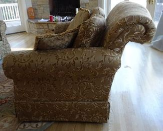 Side view of sofas.