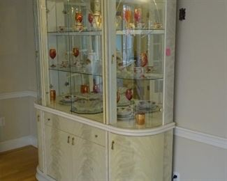 China cabinet, view from the right. EXCLUDES contents of cabinet.