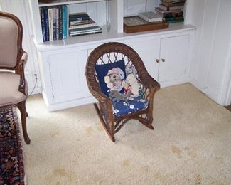 CHILD'S WICKER ROCKER