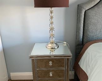 Mirrored accent tables pair