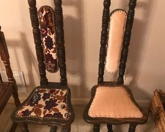 Jacobean High Back Prayer Chairs
