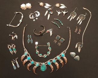 Turquoise Collection plus other Costume Jewelry too...