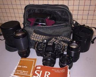 Sears 35mm SLR Camera KS-2, Lens & Accessories