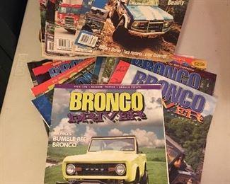 Bronco Driver Magazines & Parts Catalogs