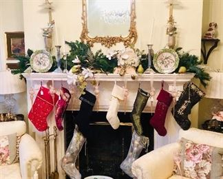 Usually, I find a closet or a small bedroom or even a corner of the garage to display holiday decorations...but there are so many and it was all so good, the Christmas spirit hit early!