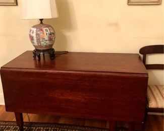I have THREE mahogany drop leaf tables for sale this time...