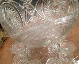Lovely punch bowl and cups