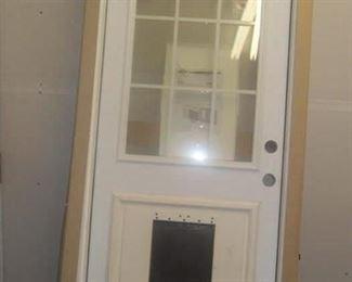 Exterior right hand door with pet door