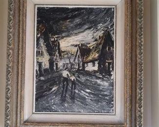 Original oil by Sergio Dino Chesini
