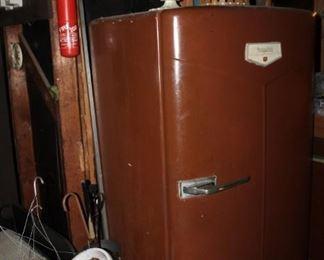 Vintage Hotpoint refrigerator, painted, works