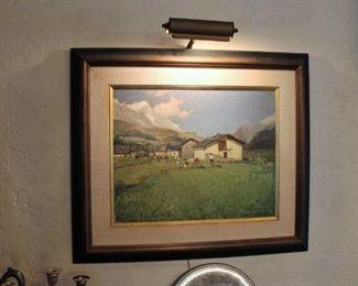 Vintage painting by Ottorino Campagnari (1910-1987)