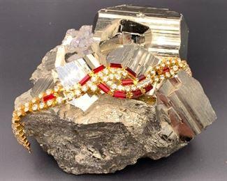 Czech rhinestone bracelet