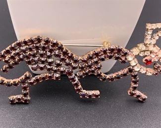 Czech rhinestone ant pin