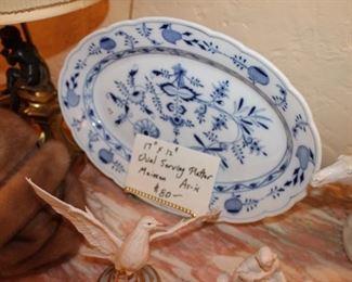 Meissen fine porcelain serving platter