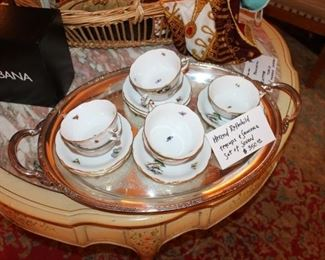 Herend Rothchild set ot cups and saucers