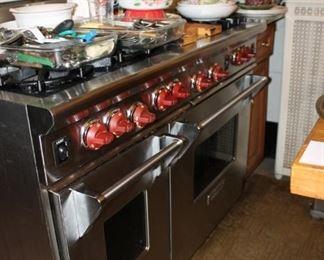 Wolf 6-burner dual oven range w/ griddle