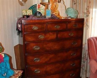 Vintage Hendredon mahogany highboy dresser