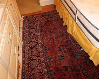 Large vintage oriental rug w/ just the right amount of distressing