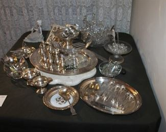 Sterling silver servingware and items
