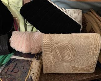 Beautiful vintage evening bags in mint condition