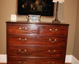 Circa 1840 Mahogany English Dresser