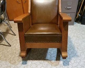 craftsman oak rocking chair