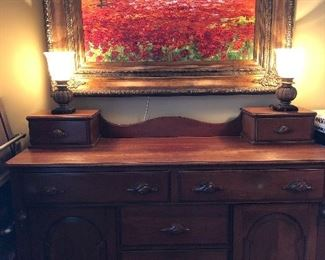 Antique sideboard - cherry