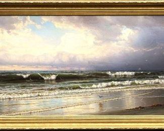 William Trost Richards (American, 1833 - 1905), Seascape
