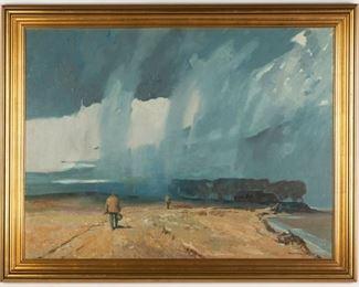 Roy Mason (American, 1886 - 1972) Storm on Great Lakes