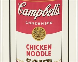 Andy Warhol (American, 1928 - 1987) Cambell's Soup I: Chicken Noodle, 1968