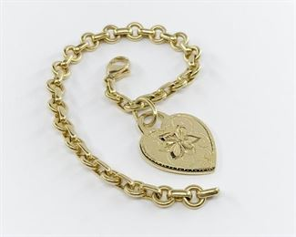 Tiffany and Co Return To Tiffany Heart Tag Bracelet in 18k Yellow Gold