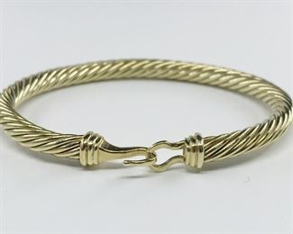 David Yurman 14k Yellow Gold Bangle Bracelet