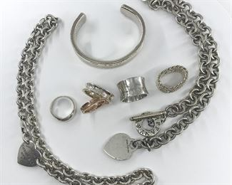 Assorted Tiffany and Co Sterling Silver