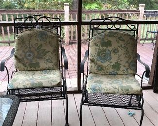 Set of two wrought iron chairs