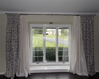 Drapes and Pella Windows