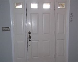 Entry door with sidelights