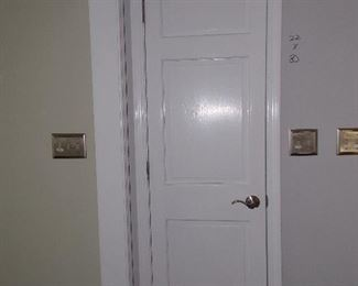 Solid wood paneled doors