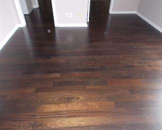 Reclaimed wide plank oak flooring