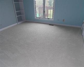 Pella windows  carpeting  shelving units